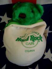 HRC Hard Rock Cafe Osaka Spring 2003 Easter Egg Bear 10`` LE Herrington Green