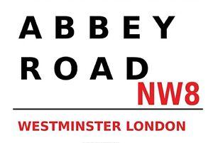 Abbey Road NW8 Londres Panneau Métallique Plaque Voûté Étain Signer 20 X 30 CM
