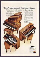 "1968 Baldwin Upright & Grand Piano photo ""We Please the Eye & Ear"" print ad"