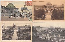 Lot 4 cartes postales anciennes BELGIQUE BRUXELLES jardin botanique 2