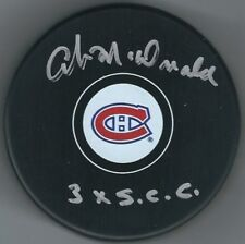 "Signed AB MCDONALD Montreal Canadiens "" 3x scc"" Hockey Puck w/ Show Ticket"
