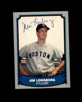 Jim Longborg Hand Signed 1988 Pacific Baseball Legends Boston Red Sox Autograph