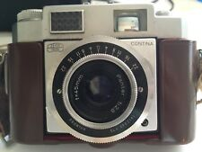 Zeiss Ikon Contina 35mm Film Camera With Leather Case Vintage