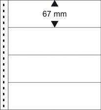 10 Lindner 012P Omnia Fiches de Stock Blanc 2x 4 Rayures Poches 245x67 MM