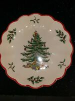 """Spode Second In A Limited Annual Series """"Christmas Tree """" Fluted Candy Dish Rare"""
