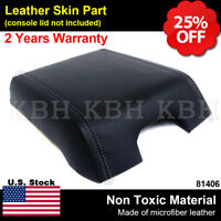 Leather Armrest Console Lid Cover for Ford F-250 Super Duty 11-16 Gray Stitch