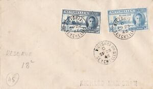 AUCT453) Cover Seychelles 1946
