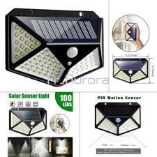 100LED énergie solaire 1200LM lumière Détecteur mouvement extérieur jardin lampe