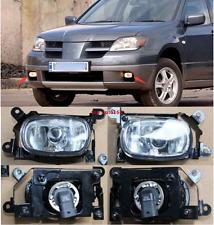 Left & Right Front Fog Lights Lamp Assembly For 2003 - 2006 Mitsubishi Outlander