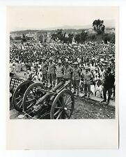 Second Italo-Ethiopian War - Vintage Publication 8x10 Photo - Emperor Surrender