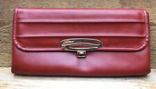 Vintage Brown Handbag/Tan Coloured/Leather Effect/Clutch/1930's/40's Style