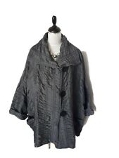 "TURBULENCE German designer OSFA jacket in grey & black 70"" chest XL ""excellent """