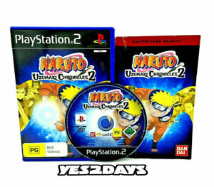 Naruto Uzumaki Chronicles 2 SONY PlayStation 2 Game MINT DISC Complete PS2