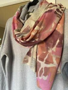 Morgan & Abstract Pink 50% Cashmere 50% Silk  Scarf/Wrap