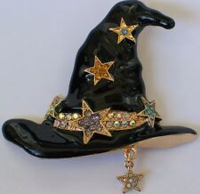 BLUE PURPLE BLACK HALLOWEEN MAGICAL STAR WITCH HAT PIN BROOCH JEWELRY DANGLE 2+""