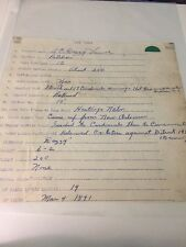 DAZZY VANCE SIGNED CLUB SHEET W/ MLB RESUME PSA/LOA HOF DODGERS VERY RARE!