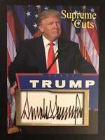 Lot Of (50) Donald Trump 2020 Supreme Cuts Sample Card