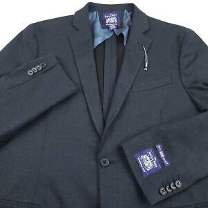 Savile Row Clifton Suit Separate Jacket Coat Mens 40R Brit Skinny Gray Chevron
