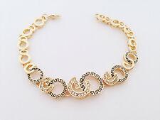 18ct gold plated solid good quality Greek Key bracelet  lovely gift 18K
