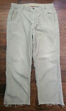Mens The North Face Tan Corduroys Size: 36 Inseam: 28 (Inventory M7)