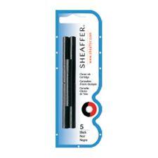5 X Sheaffer Fountain Pen Refill Ink Cartridges Black- 5 PACK Free Shipping