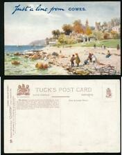 ISLE of WIGHT TUCKS OILETTE 7574 COWES with TOURIST OVERPRINT...ARTIST WIMBUSH