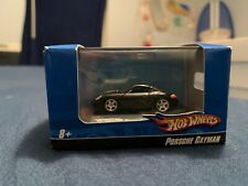 HO Scale 2007 Hot Wheels Diecast 1:87 Display Stand Car Porsche Cayman Black