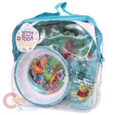 Winnie Pooh Friends Kids Dinnerware  Set 3pc Dining Set with Backpack