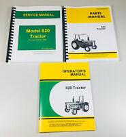 SERVICE PARTS OPERATORS MANUAL FOR JOHN DEERE 820 TRACTOR TECHNICAL SHOP REPAIR