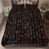 Black Egyptian Single/Double/Queen/King Size Bed Quilt/Doona/Duvet Cover Set