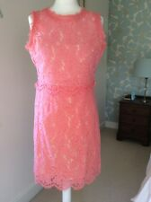 Darling London Coral Lace Dress 12 NWT