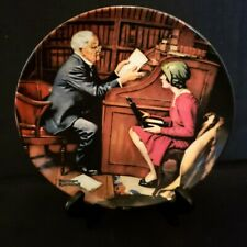 """Norman Rockwell Collector Plate """"The Professor"""" #13139C, Knowles China"""