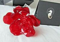 WATERFORD Crystal Fleurology Red Rose  NIB EXCELLENT!
