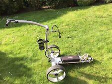 Elektro Golf Trolley CADDYONE 750 Silber Inkl. 33Ah Bleigelakku + Fernbedienung