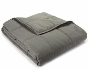 Premium Quilted Weighted Blanket Twin Bedding Microfiber Stress Reduce Throw