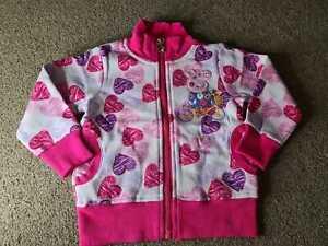 Toodler girls heart cartoon cute pig pink cotton jacket (18/24Months)