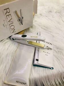 Mini Iron A Smooth 14CM REVLON Plate Ceramic Flat + Kit Storage White