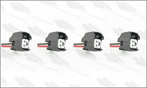 4 - EV6 Fuel Injector Connector Plugs Clips Pigtails Quick Disconnect US-CAR