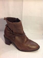 Faith Brown Ankle Leather Boots Size 38