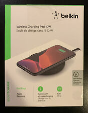 Belkin BOOSTUP 10W Qi Wireless Charging Pad - Black iPhone Android Samsung