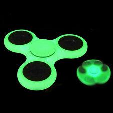 Glow in the Dark Hand Spinner Tri Fidget Focus Tool Desk Toy Stocking Stuffer