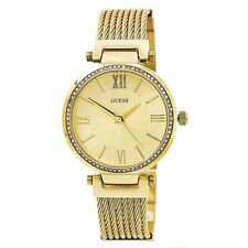 Guess U0638L2 Women's Gold Dial Yellow Gold Steel Crystal Watch