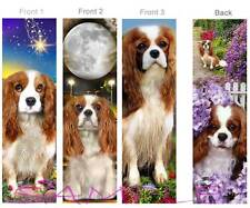 3 Set-CAVALIER KING CHARLES SPANIEL BOOKMARKS Dog Pup Book ART Figurine Ornament