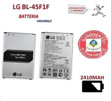 BATTERIA ORIGINALE LG BL-45F1F K4 2017 M160 K8 2017 M200 Bulk 2410mah NUOVA BULK