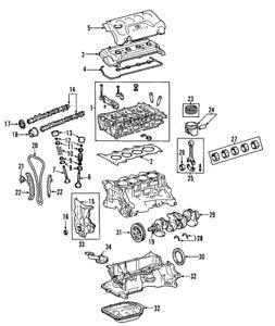 Genuine Toyota Engine Cylinder Head Gasket 11115-37061