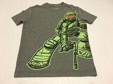 Old Navy Boys Tee Shirt Small 6-7 Ninja Turtle Gray