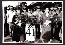 Tereshkova and her under study at Baikonur. Original photo