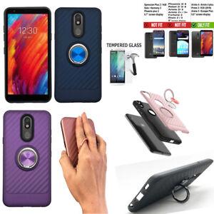 Phone Case For AT&T LG Prime 2,LG Arena 2 Case shock absorbing Cover Ring Holder