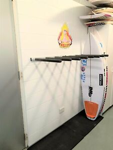 Surfboard [or SUP] Wall Rack - Quad Vertical ALUMINIUM by Curve