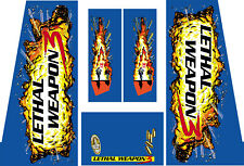 Data East Lethal Weapon 3 Pinball Machine CABINET Decal Set